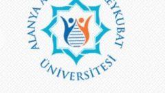 Alanya Alaaddin Keykubat Üniversitesi 3 Akademik Personel Alımı