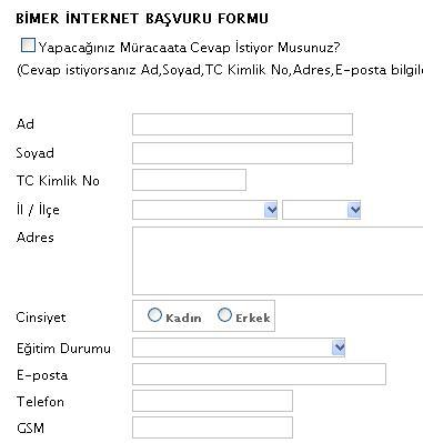 başvuru formu