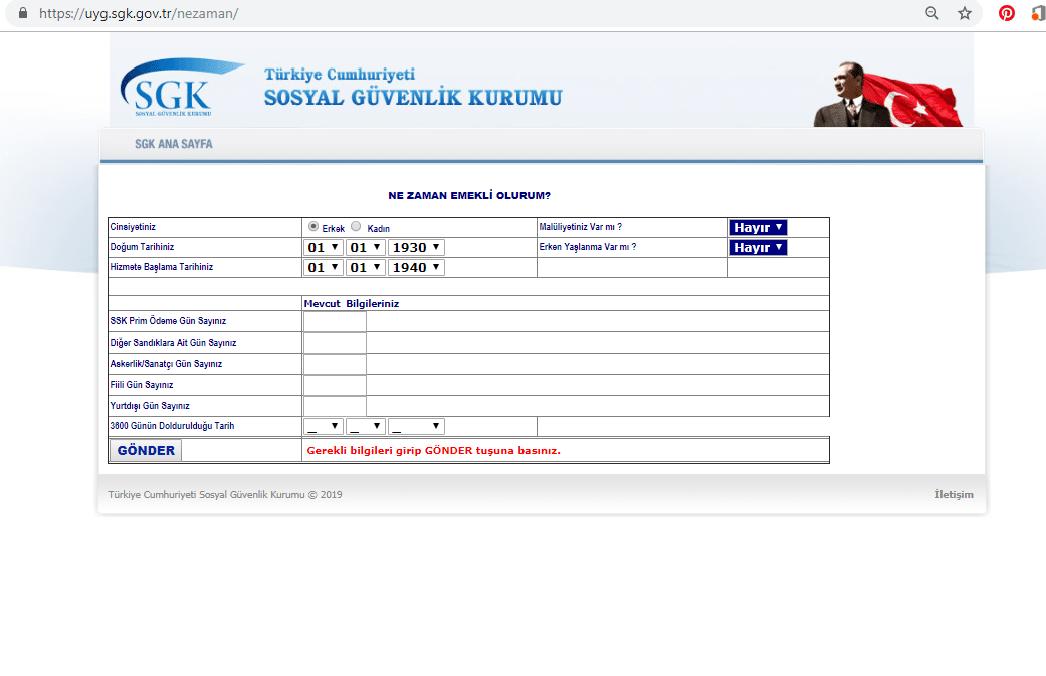 SSK 4A Emeklilik sorgulaması